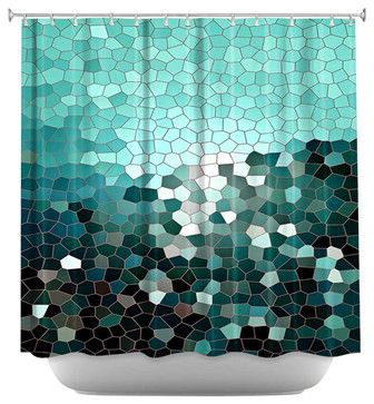 Patternization V Shower Curtain contemporary shower curtains