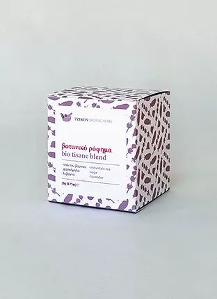 Tzekos Organic Herbs — bio tisane blend 4. mountain tea, sage, lavender.