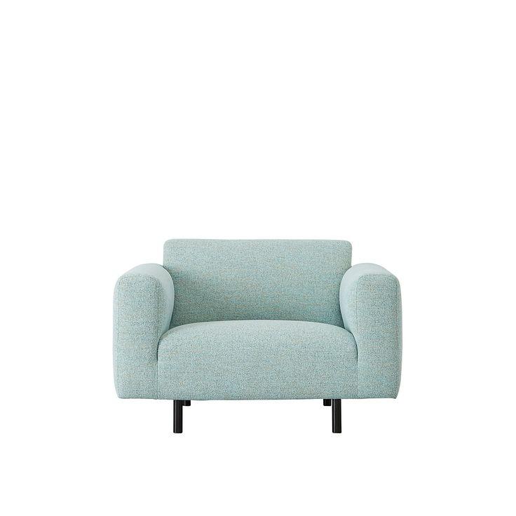 #romi #loveseat #fauteuil #zacht #lichtblauw #comfortabel #mint #wooninspiratie #stoel #rondehoeken