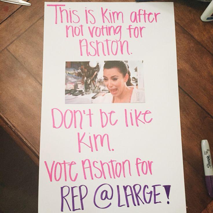 Kim Kardashian Student Council Poster