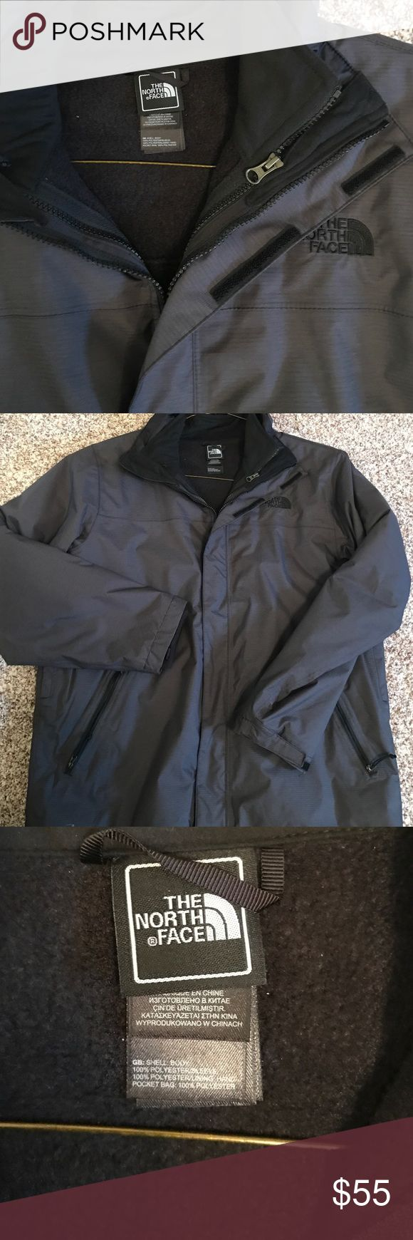 North face men's ski jacket size large worn once!! North face men's like new ski jacket. Worn only one time!! Like new. Very warm. Size large offers welcome!!! North Face Jackets & Coats Ski & Snowboard