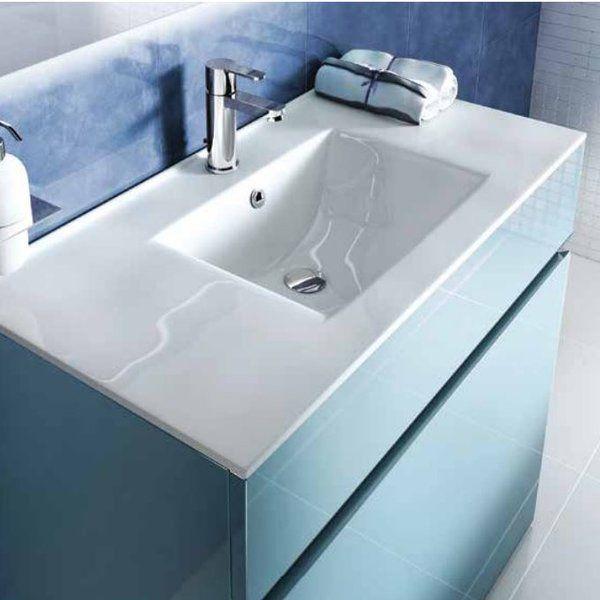 Britton Bathrooms 90cm Semi Recessed Basin & Reviews | Wayfair.co.uk