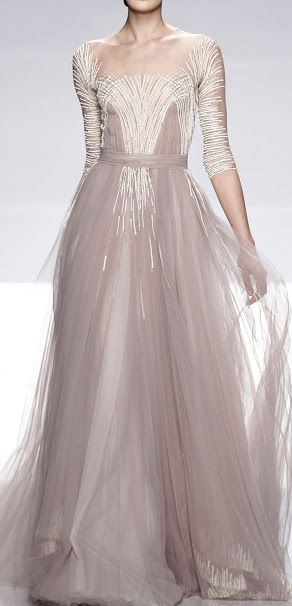 Tony Ward This is beautiful design and the bead work on the gown is quite contemporary
