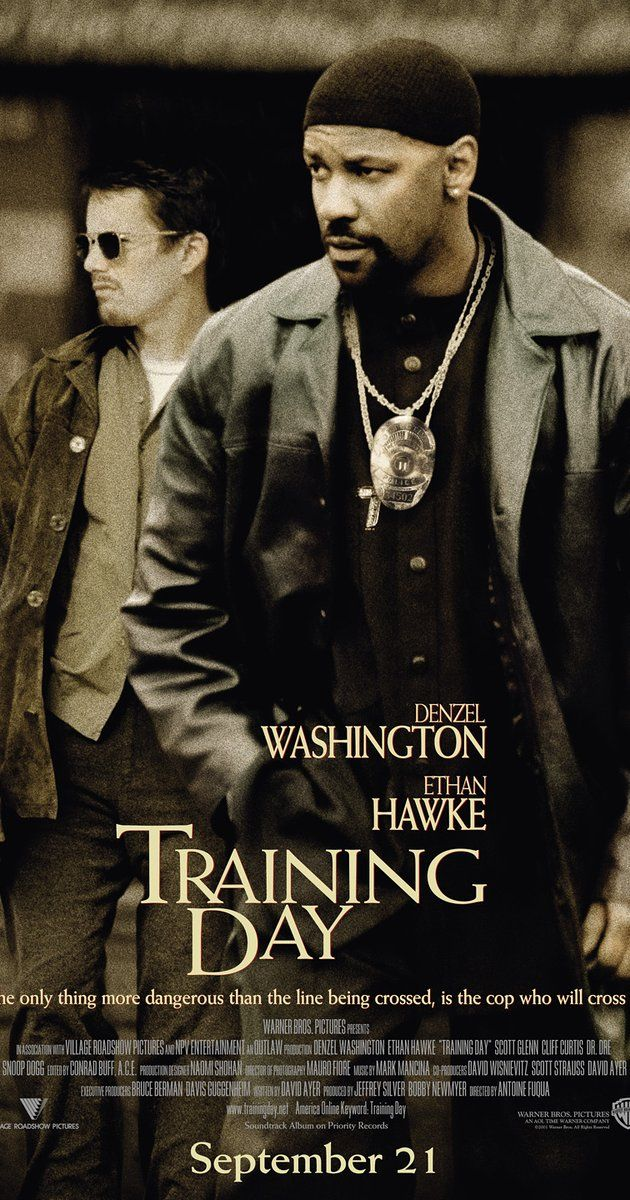 Directed by Antoine Fuqua.  With Denzel Washington, Ethan Hawke, Scott Glenn, Tom Berenger. On his first day on the job as a Los Angeles narcotics officer, a rookie cop goes on a 24-hour training course with a rogue detective who isn't what he appears.