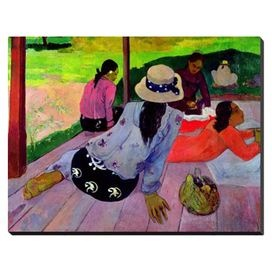 Bring Paul Gauguins lush Post-Impressionistic style to your decor with this framed canvas print from Art.com.   Product: Wall artConstruction Material: CanvasFeatures: Originial art by Paul GauguinDimensions: 16.5 H x 21 WNote: This item is supplied by Art.com