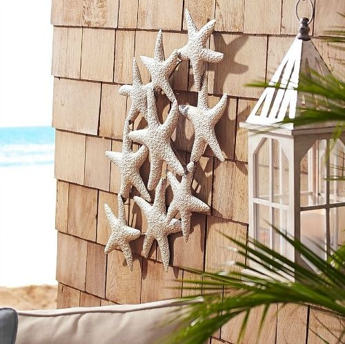 Outdoor Coastal Wall Decor. From Metal Wall Art to Outdoor Canvas Art & Beyond: http://www.completely-coastal.com/2016/06/coastal-outdoor-wall-art-decor.html This is the Time for Outdoor Living!