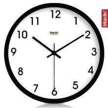 包邮 8-14寸超静音时尚创意钟表客厅挂钟 金属挂墙钟119