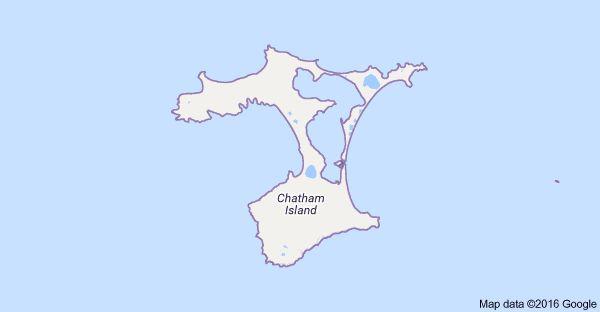 Harta pentru Chatham Islands, Noua Zeelandă