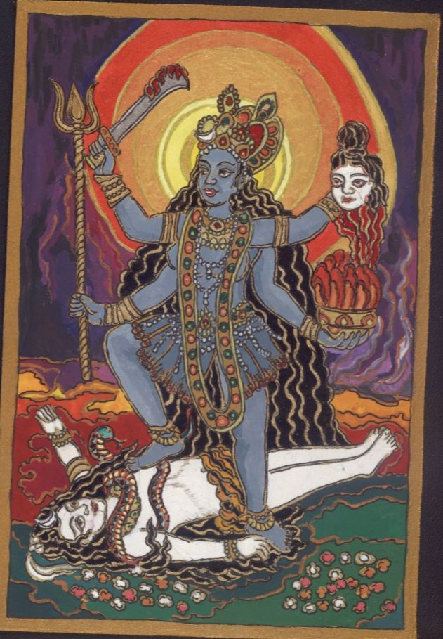 Kali Maa, to balance the imapcts of a solar eclipse occuring on my birthday in 2011 January