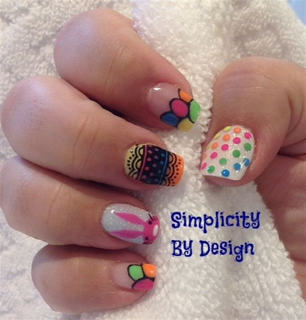 220 best easter nail art images on pinterest easter nail art day 95 easter sunday nail art prinsesfo Choice Image