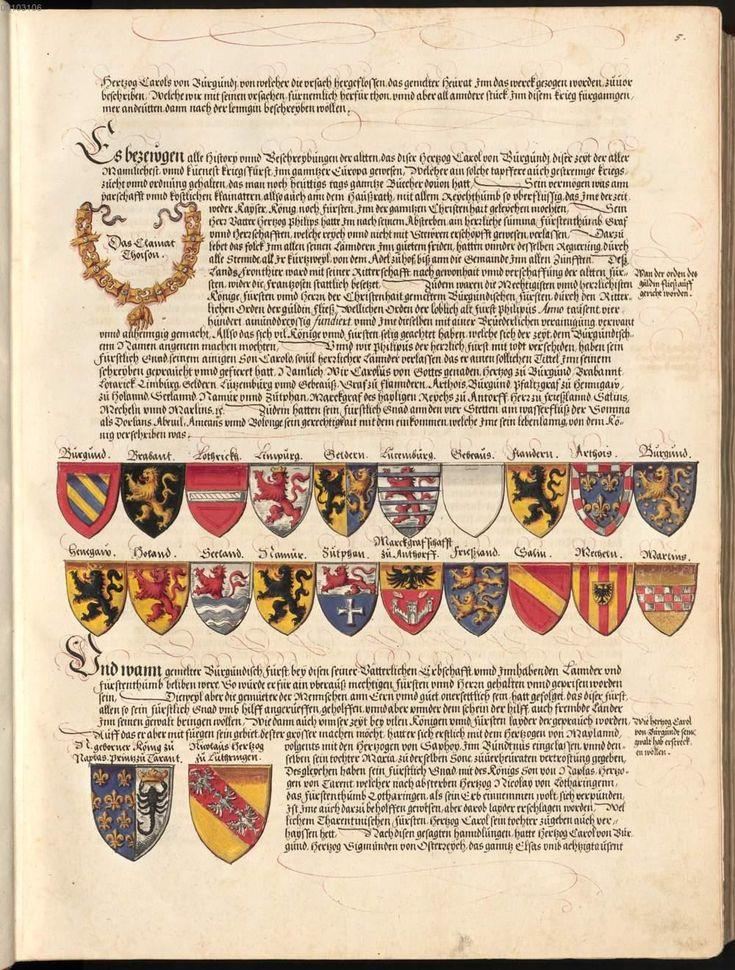 Karl der Kühne Ehrenspiegel des Hauses Österreich (Buch VII) - BSB Cgm 896 (1559)