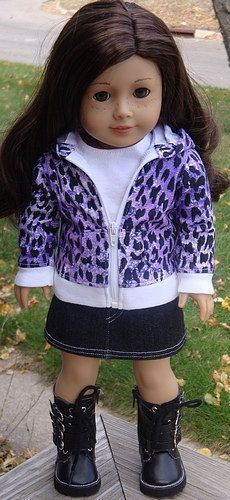 American Girl Doll Clothes Purple Animal by AngelKissesBoutique, $29.99