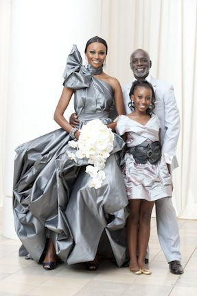 Cynthia Bailey, Peter Thomas, and their daughter on their wedding day. #RHoA