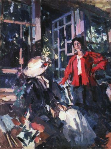 At the Window, 1919 - Konstantin Korovin (Russian, 1861-1939) Impressionism