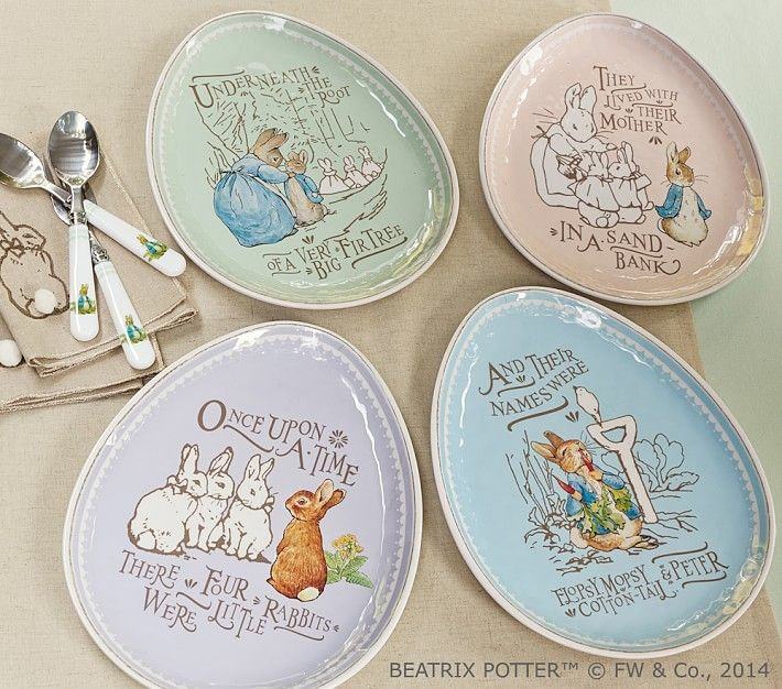 Peter Rabbit Easter Plate Sets In 2019 Peter Rabbit