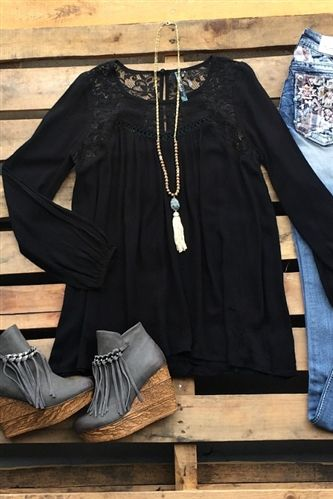 Ready To Roll Top- Black $32.99! #southernfriedchics #black #newlook