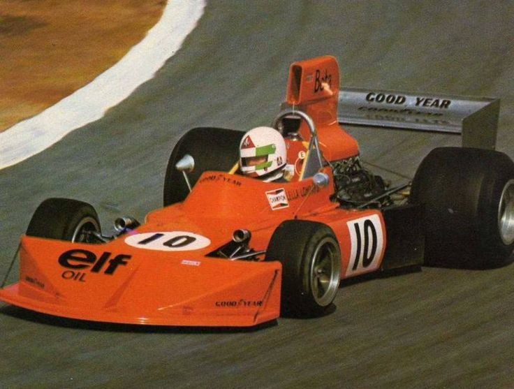 Lella Lombardi driving a March 741 in her first Grand Prix, Kyalami 1975. Qualified 26th and last - retired on lap 23 with a fuel supply problem