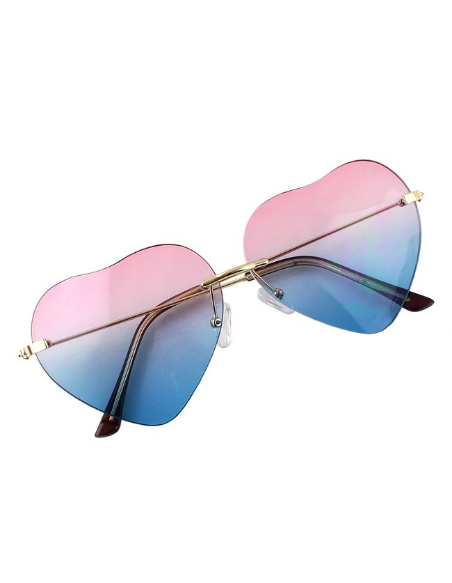 Pinkblue Heart Shape Women Sunglasses 9.99