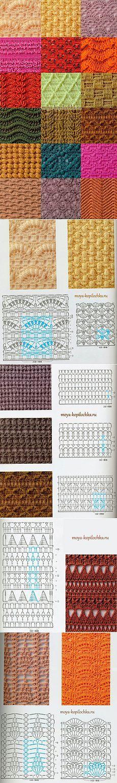 tricô padrões!  A verdadeira riqueza de padrões de malha