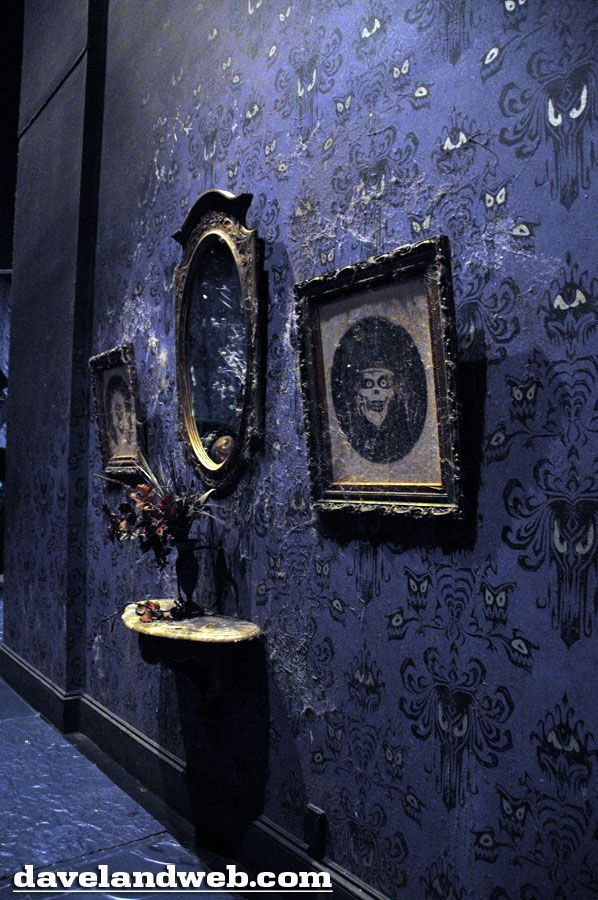 Disneyland Haunted Mansion Of Course Sure Wish I Could Purchase This Wallpaper Some Where