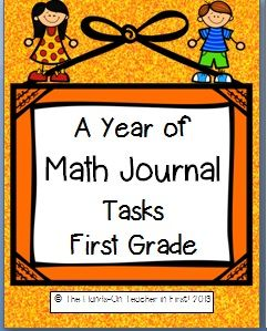 Common Core Math Journal tasks for First Grade standards!