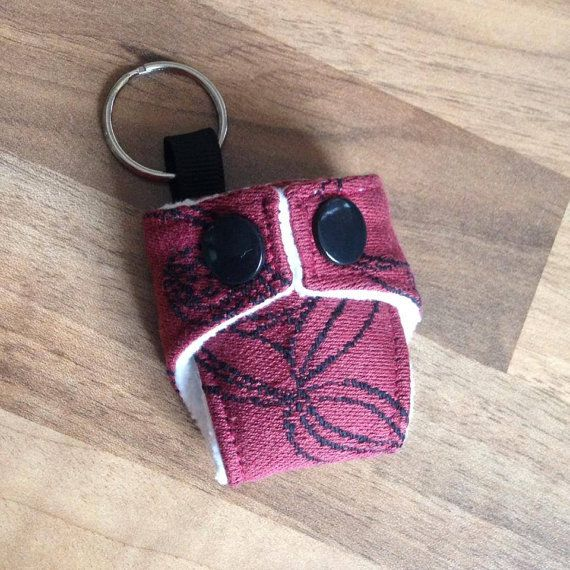 OschaEden Copper Beach Mini Cloth Nappy Keyring Diaper Keychain £4