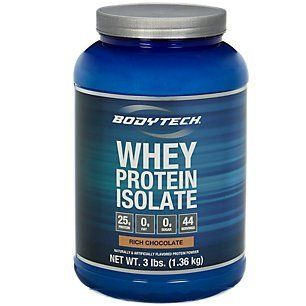 BodyTech Whey Protein Isolate  Rich Chocolate 3 Pound Powder * Check this awesome product by going to the link at the image.
