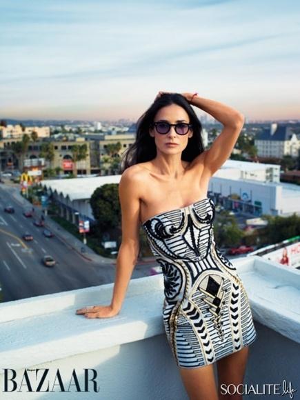 Demi Moore for Harper's Bazaar.