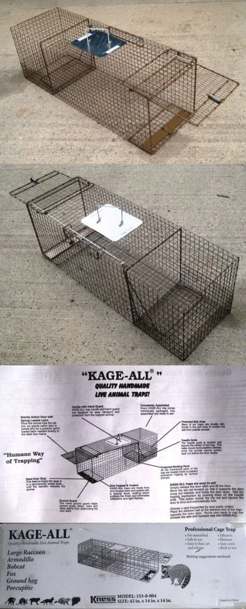 Trapping Supplies 71108: New X Large Live Animal Raccoon Dog Woodchuck Cage Trap Kness K153. -> BUY IT NOW ONLY: $79.49 on eBay!
