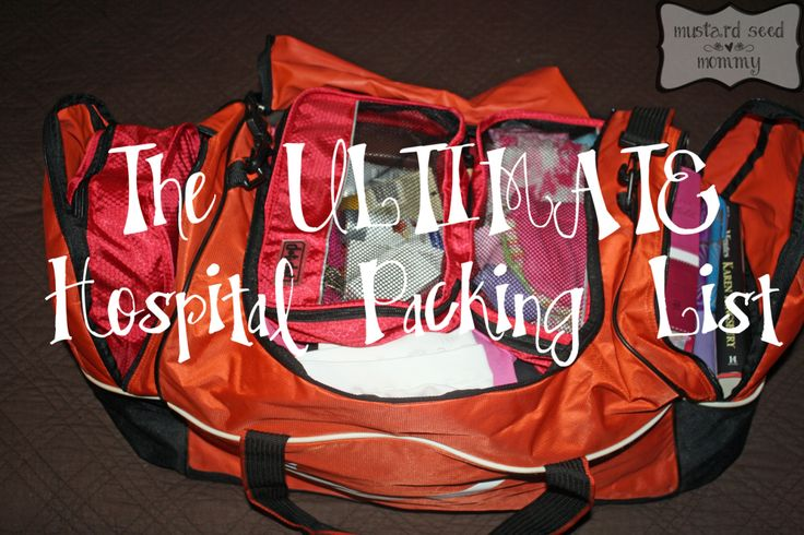 Ultimate Hospital Packing List (and Review of Dot&Dot Small Packing Cubes!)