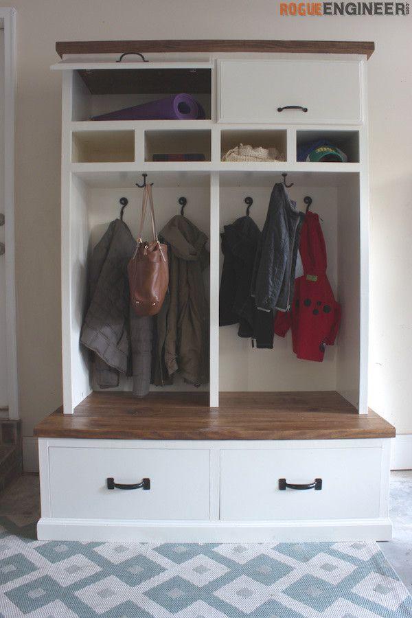 Mudroom Lockers With Bench Free Diy Plans Laundry Room Diy