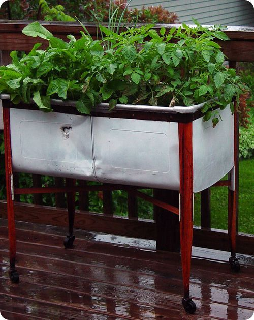 ... about wash tubs on Pinterest | Gardens, Planters and Herbs garden
