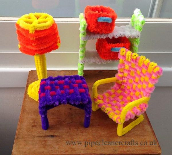 Furniture - 80  Cool Pipe Cleaner Crafts, http://hative.com/cool-pipe-cleaner-crafts/,