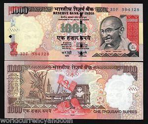 Afbeeldingsresultaat voor bankbiljetten rupees voor en achterkant