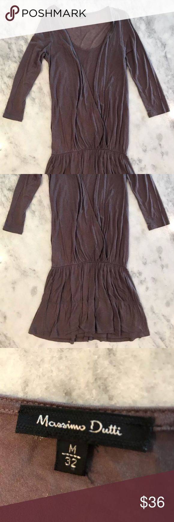 SALE🍂Lavender Blouson Mini Dress Massimo Dutti flowy lavender dress  3/4 Sleeve Blouson top, lined skirt, belt loops  Excellent pre-owned condition- no observed signs of wear, flaws or stains  Size Euro 36, medium, US approx. size 6 Massimo Dutti Dresses Mini