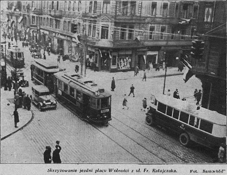 Co za ruch! Ratajczaka / 27 Grudnia - przed wojną! A my za wtorkowym Nowym Kurjerem z 1927 roku informujemy o remoncie szyn - u wylotu ul. Sew. Mielzynskiego.