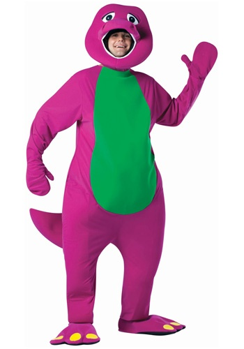 Barney Costume...wonder if bill would wear for his munchkin?? :)