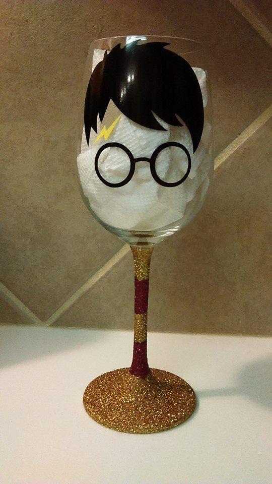 Harry Potter wine glass.