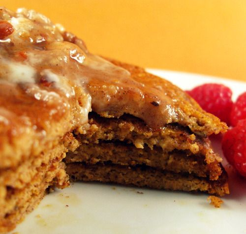 Paleo Sweet Potato Pancakes with Maple Pecan Coconut Butter
