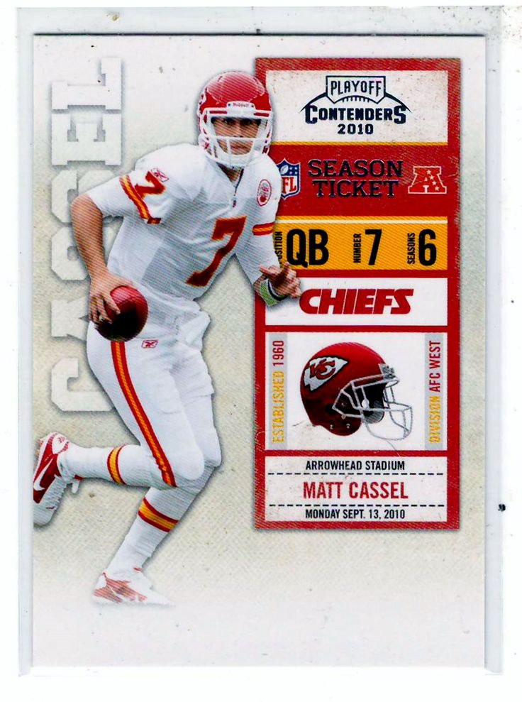 Sports Cards Football - 2010 Playoff Contenders (Season Tickets) Matt Cassel