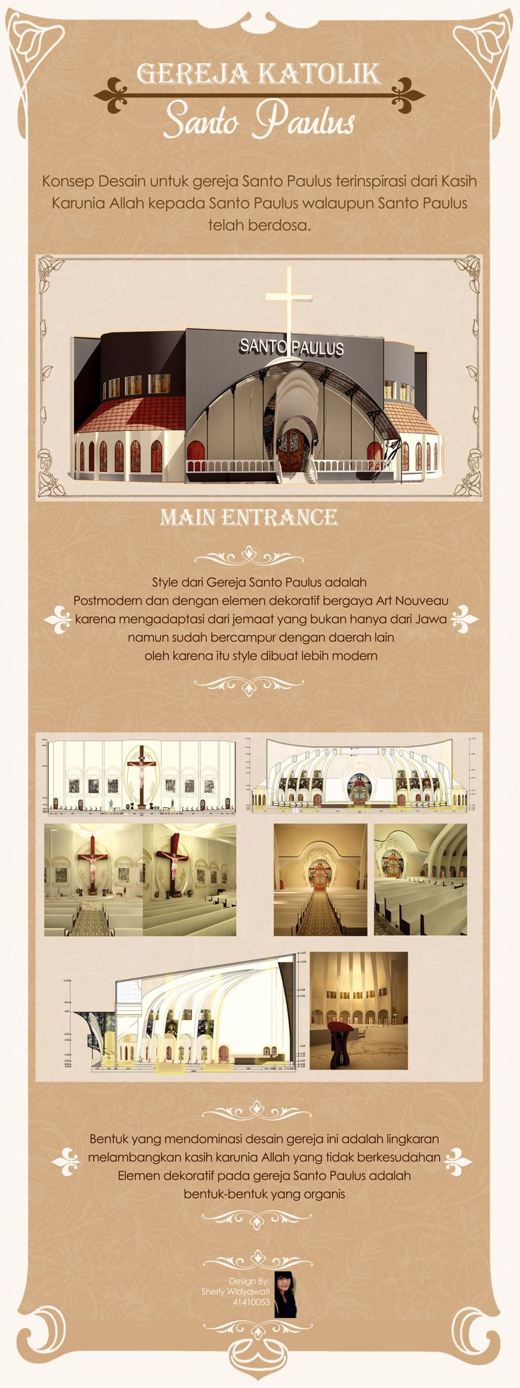 #church #saintpaul #interiordesign #artnouveau #postmodern