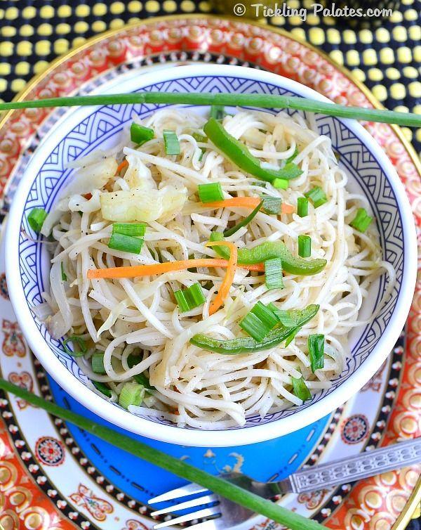 Chinese Vegetable Noodles Recipe | ticklingpalates.com