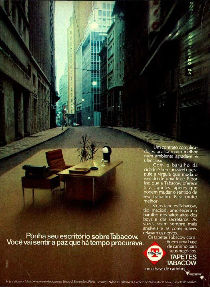 Tapetes Tabacow #Brasil #anos70 #retro #vintageads #anunciosantigos #BrasilRetro