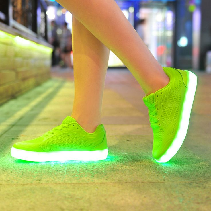 2016 New Led Light Shoes Women Casual Breathable Luminous Tenis Con Luz Schoenen Met Licht Glowing Zapatillas Con Luces Usb Shoe(China (Mainland))
