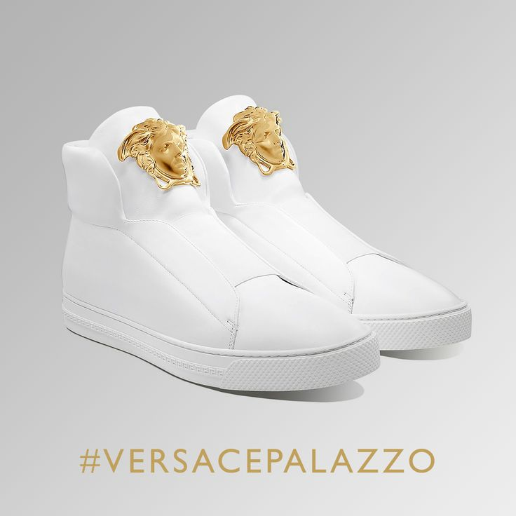 White heat. Discover the hottest Men's ‪#‎VersacePalazzo‬ sneakers of the season on versace.com #VersaceSneakers