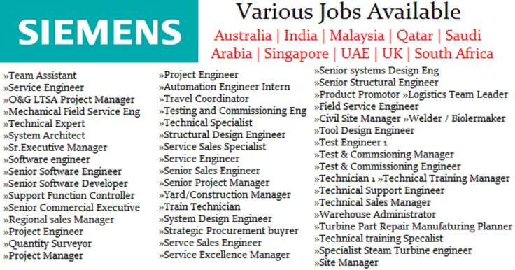 Siemens has been an improvement progression associate to the UAE and the more broad Middle East area for a total of in overabundance of 150 years.  [post_ads]  Online Job Search The associations region and obligation has created from quality to quality. There are extraordinary reasons why laborers may be satisfied with working at Siemens. The lives of practically everyone on the planet have been touched by Siemens things in the long run.  [post_ads]  Our duties on occasion arent…