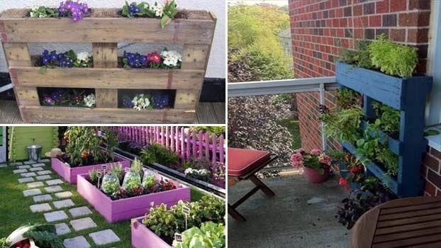 fioriere per giardino economiche in pallet di legno
