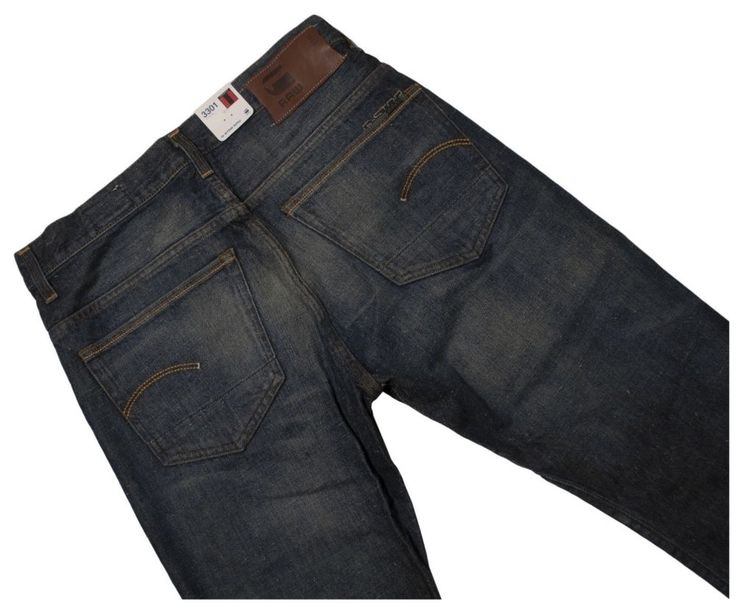G-STAR JEANS 3301 STRAIGHT MADE ITALY Men's W34 L36 RRP $240