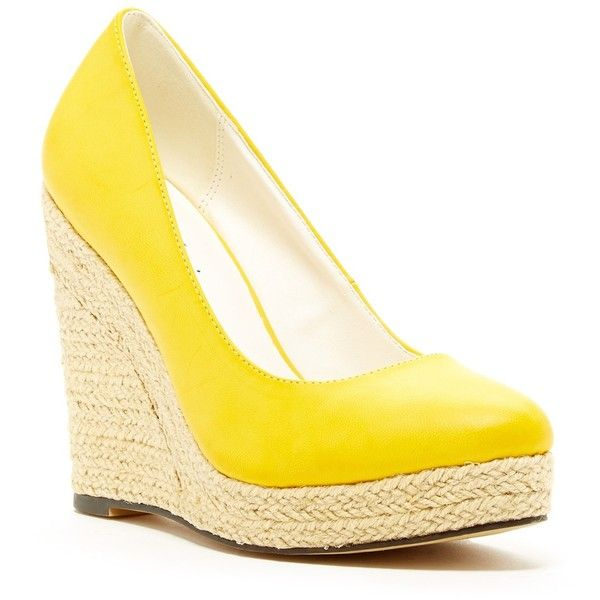 Michael Antonio Anabel Espadrille Wedge ($27) ❤ liked on Polyvore featuring shoes, sandals, wedges, wedge sandals, wedge espadrilles, platform shoes, espadrilles shoes and platform wedge sandals