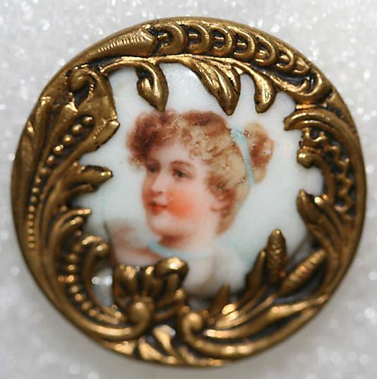 Porcelain Button date: ca. 1880 Culture: British Credit Line: From the Hanna S. Kohn Collection, 1951